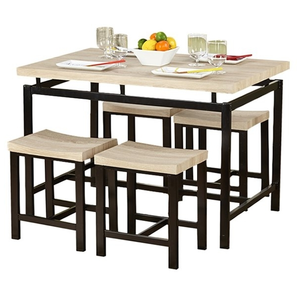 Modern & Contemporary Candice 5 Piece Dining Set (View 13 of 18)
