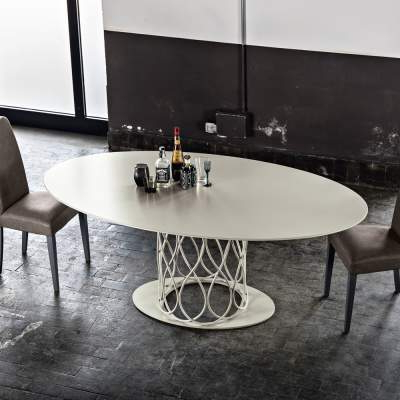 Modern Design Dining Table Made Of Grey Oak Mdf 108X200 Cm Nora Within Preferred Nora Dining Tables (View 4 of 20)