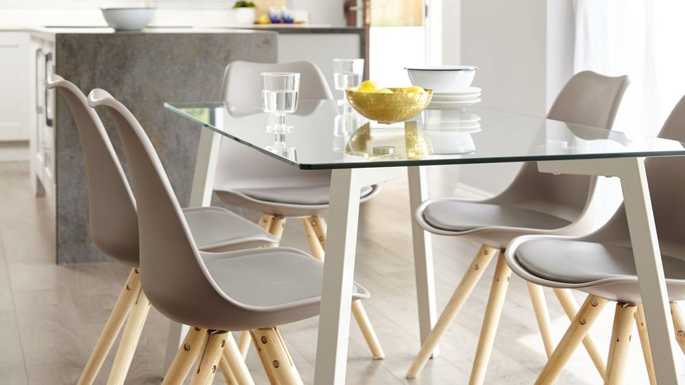 Featured Photo of Glass 6 Seater Dining Tables