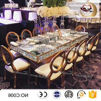 Modern Dining Furniture Mirror Glass Top Hotel Tables – Buy Modern With Well Known Mirror Glass Dining Tables (View 14 of 20)