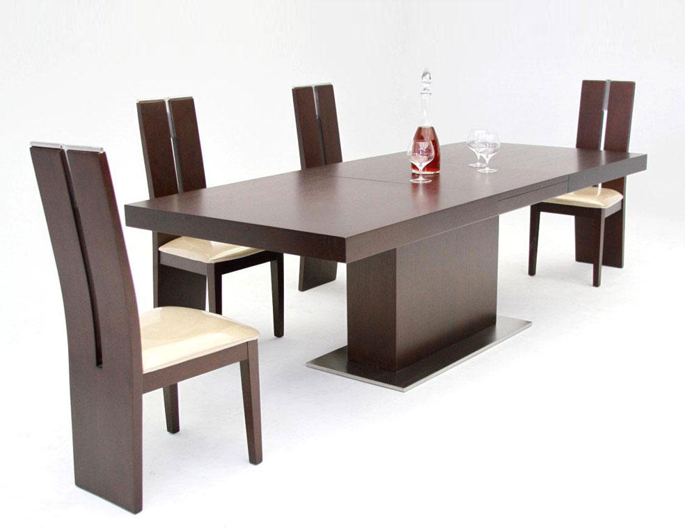 Modern Dining Intended For Extending Dining Tables Sets (View 16 of 20)