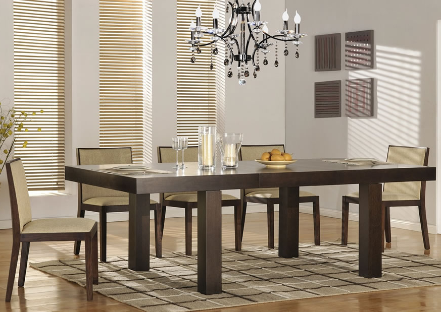 Modern Dining Room Sets For Famous Attractive Modern Dining Room Sets — Bluehawkboosters Home Design (View 8 of 20)