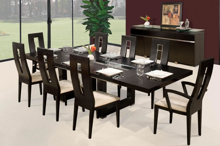 Modern Dining Room Table And Chair Sets – Decorating Interior Of Throughout Recent Contemporary Dining Room Tables And Chairs (View 14 of 20)