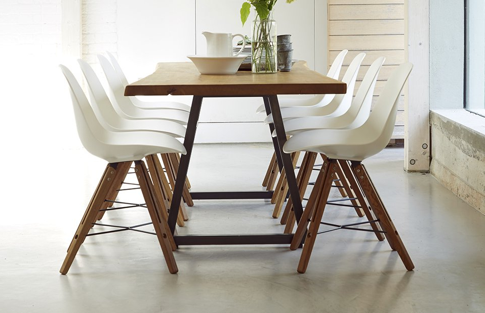 Modern Dining Set – 8 Seats – Home Furniture – Out & Out Original Throughout Recent Solid Oak Dining Tables And 8 Chairs (View 3 of 20)