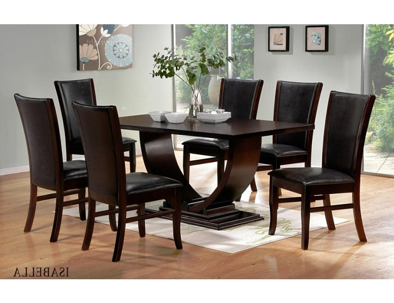 Modern Dining Sets Intended For Best And Newest Isabella Modern Dining Room Set (View 6 of 20)