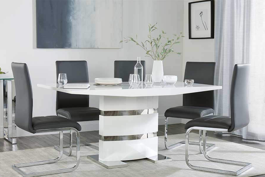 Modern Dining Sets Throughout Most Recent Modern Dining Room Table And Chairs Uk – Architecture Home Design • (View 9 of 20)