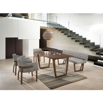 Modern Dining Sets With Regard To Famous Modern Veneer Dining Room Tables, Buffets, Benches, Chairs & More (View 12 of 20)