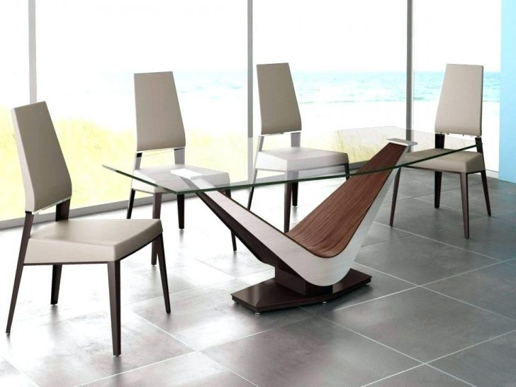 Modern Dining Suites For Best And Newest Round Table Dining Suites Walnut Finish Casual 5 Piece Extendable (View 15 of 20)