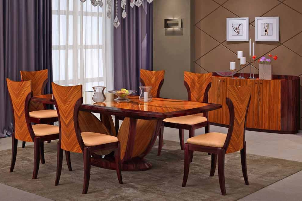 Modern Dining Table And Chairs Inside Well Known Primrose Italian Modern Dining Table Set (View 7 of 20)