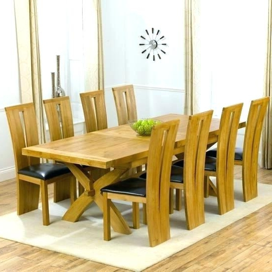 Modern Dining Table For 8 Large Square White Oak Dining Table Trendy Pertaining To Newest 8 Seater Oak Dining Tables (View 9 of 20)