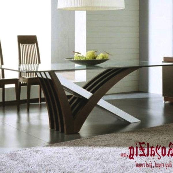 Modern Dining Table I Contemporary Wooden 4 Seater Dining Table I With Regard To Trendy Contemporary Dining Furniture (View 12 of 20)
