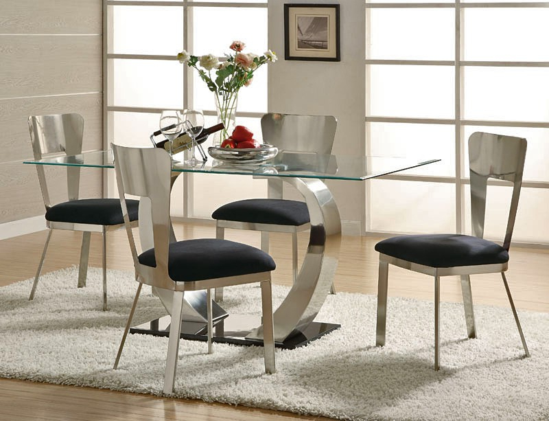 Modern Dining Tables And Chairs Throughout Favorite Inspiration Modern Dining Room Sets — Bluehawkboosters Home Design (View 7 of 20)