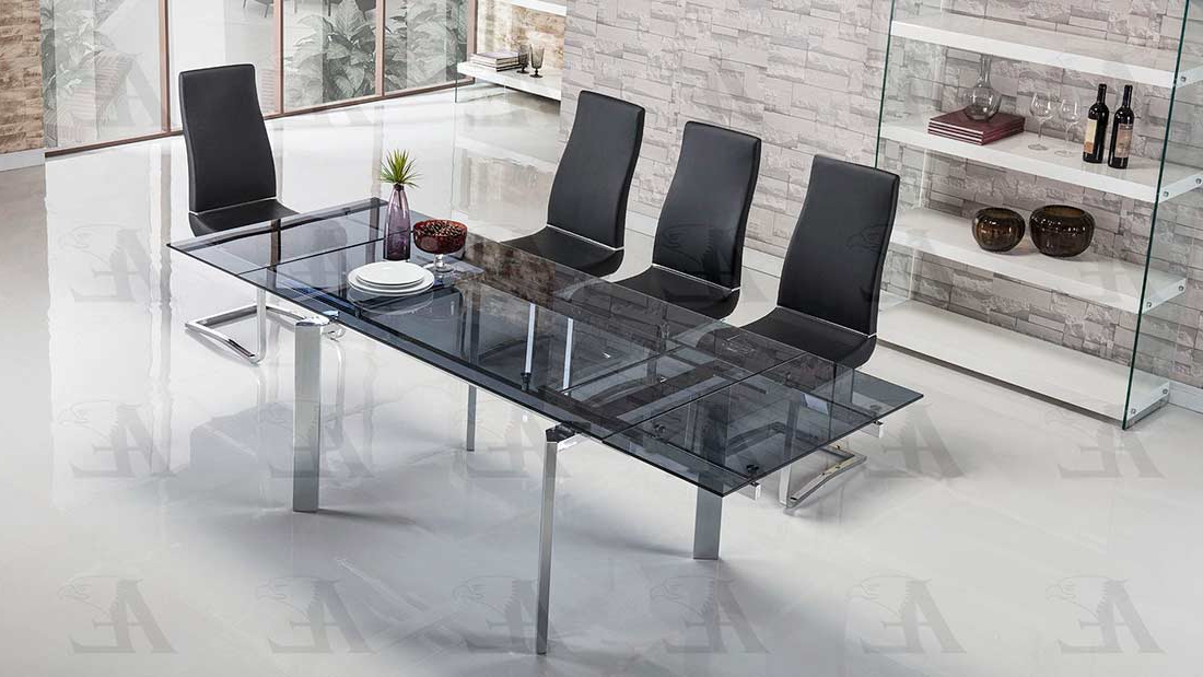 Modern Dining Throughout Smoked Glass Dining Tables And Chairs (Gallery 11 of 20)