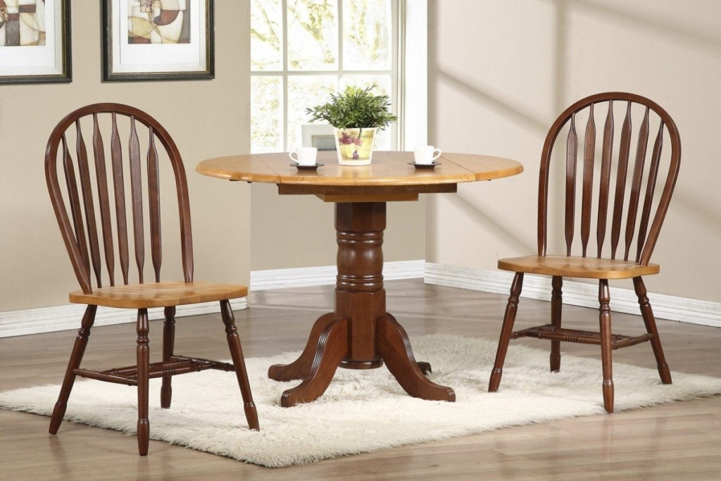 Modern Drop Leaf Kitchen Table Wooden Chair Brown Mahogany Materials Regarding 2017 Cream Lacquer Dining Tables (View 14 of 20)