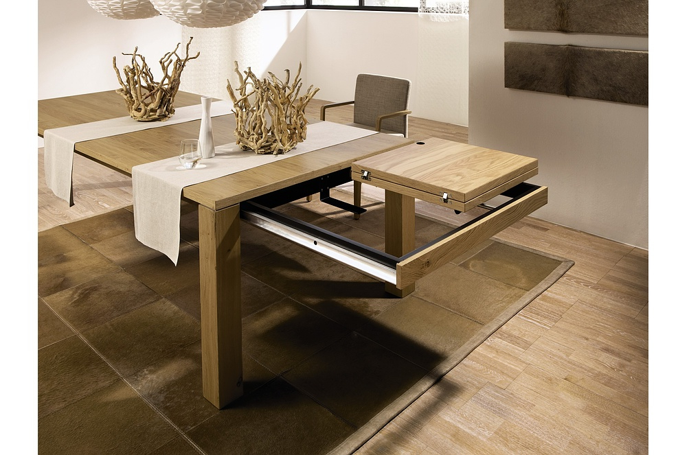 Modern Expandable Dining Table — Home Design Ideas : Make An Intended For Fashionable Extendable Dining Sets (View 17 of 20)