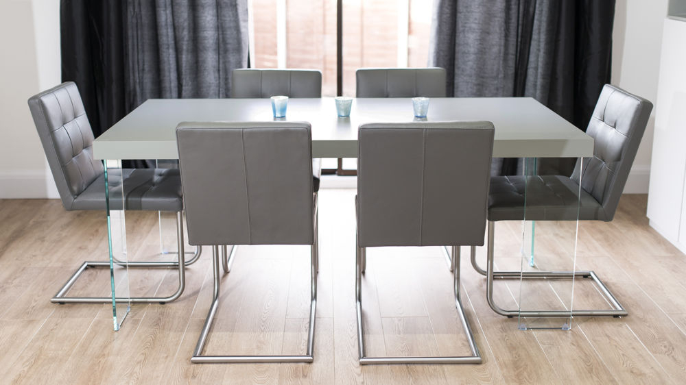Modern Grey Oak Dining Table (View 9 of 20)