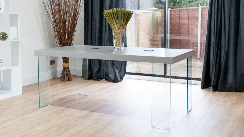 Modern Grey Oak Dining Table (View 13 of 20)