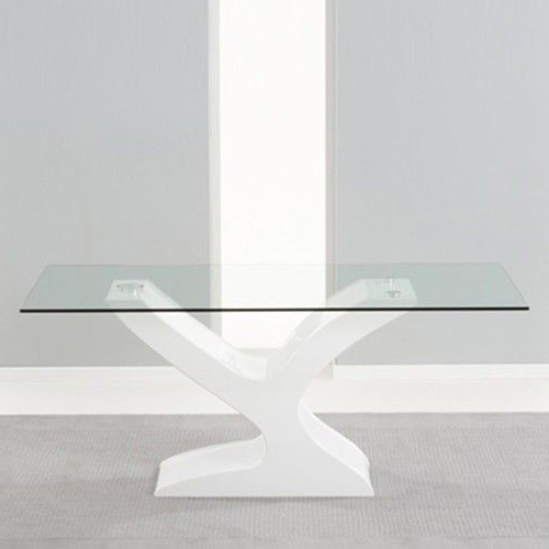 Modern White Gloss And Glass Dining Table New (View 7 of 20)