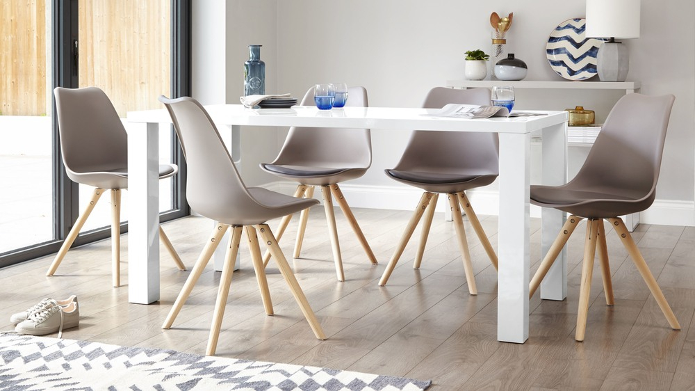 Modern White Gloss Dining Table (View 6 of 20)