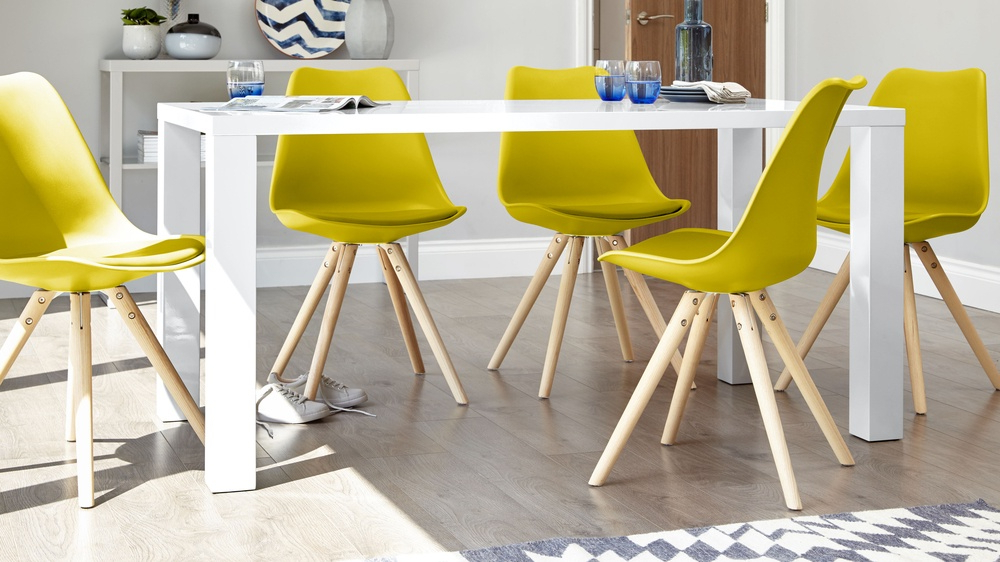 Modern White Gloss Dining Table (View 8 of 20)