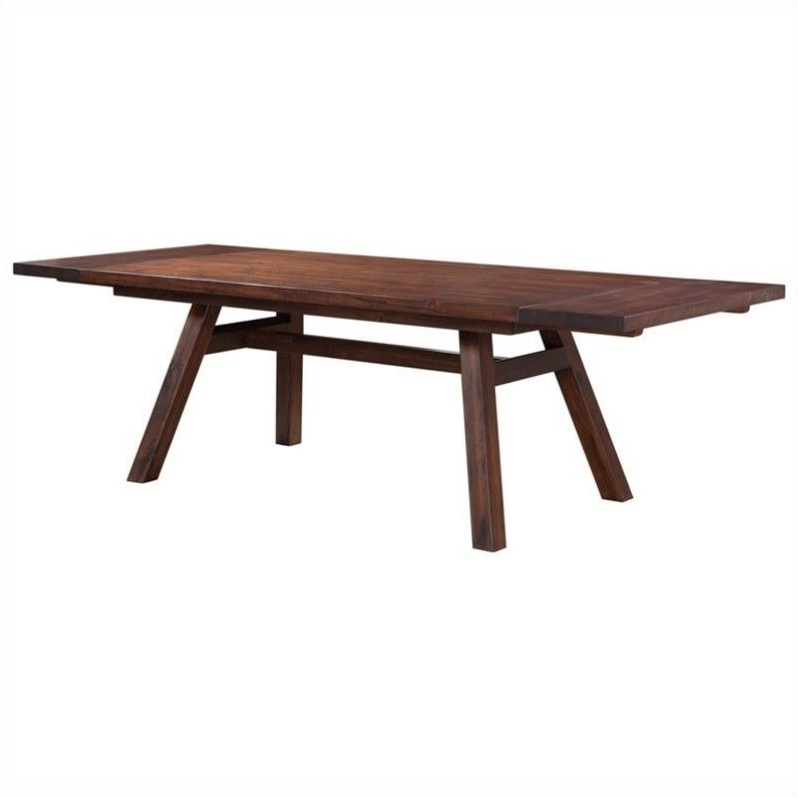 Modus Furniture Portland Extendable Dining Table In Walnut – 7z4861r Intended For Well Known Portland Dining Tables (View 8 of 20)