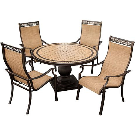 Monaco Dining Sets Throughout Newest Monaco 5 Piece Outdoor Dining Set –  (View 15 of 20)