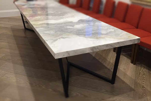 Monaco Dining Tables Pertaining To Well Liked Large 8 Seater Marble Dining Table (View 9 of 20)