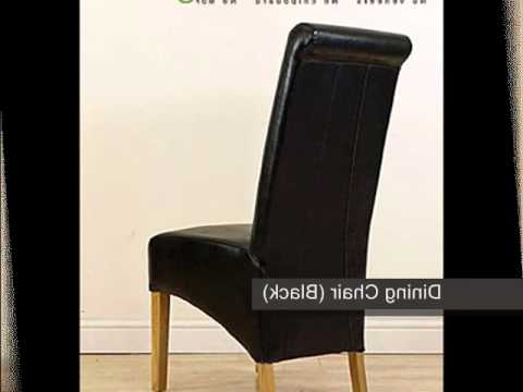 Montana Leather Dining Chair Black) – Youtube Inside Most Current High Back Leather Dining Chairs (View 17 of 20)
