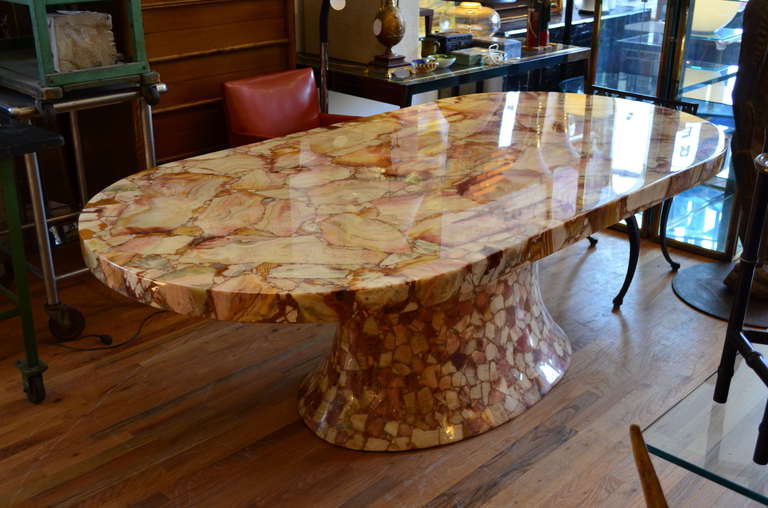 Mosaic Dining Tables For Sale In Most Current Onyx Oval Dining Tablemuller's Of Mexico (View 10 of 20)