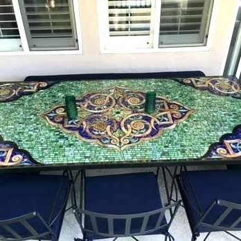 Mosaic Dining Tables For Sale With Regard To Widely Used Dining Table Mosaic Tile Rusticon Diy – Lespot (View 12 of 20)