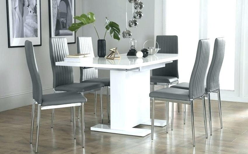 Most Current 6 Chair Dining Table Sets – Wallof Throughout Extendable Dining Table And 6 Chairs (View 15 of 20)
