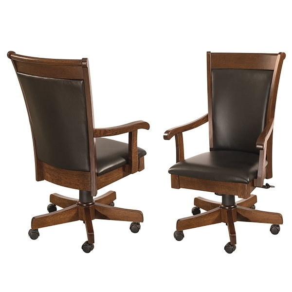 Most Current Amish Desk Chairs Furniture, Amish Desk Chairss, Amish Furniture Intended For Clint Side Chairs (View 11 of 20)