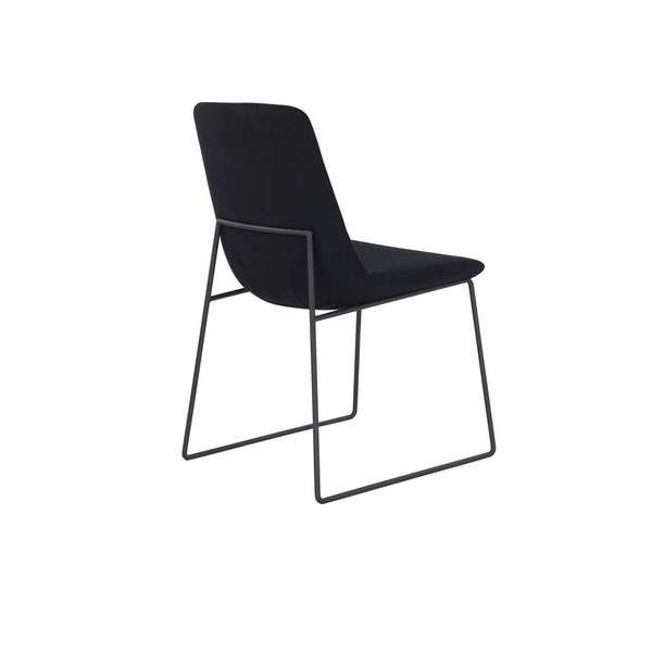 Most Current Aurelle Home Polk Black Dining Chair (Set Of 2) (View 12 of 20)