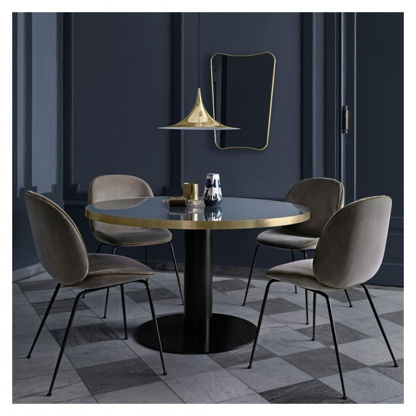 Most Current Beetle Dining Chair Green Velvet With Black Legs – The Conran Shop Throughout Dark Olive Velvet Iron Dining Chairs (View 13 of 20)