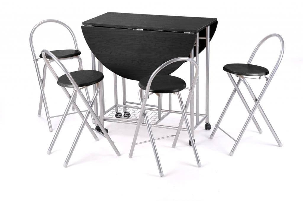Most Current Black Folding Dining Tables And Chairs For Best Folding Tables & Chairs – Reviews Uk 2017 –  (View 12 of 20)
