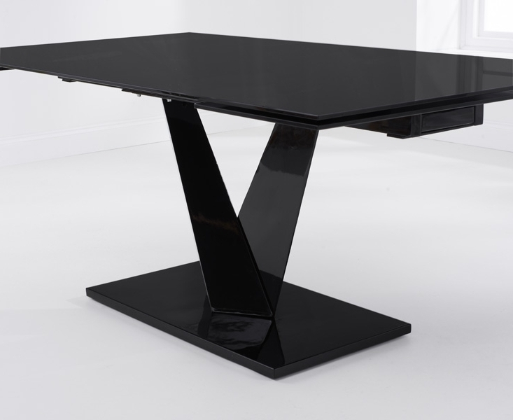 Most Current Black Glass Dining Tables Inside Buy Mark Harris Isla Black Glass Dining Table – 180Cm Rectangular (View 11 of 20)