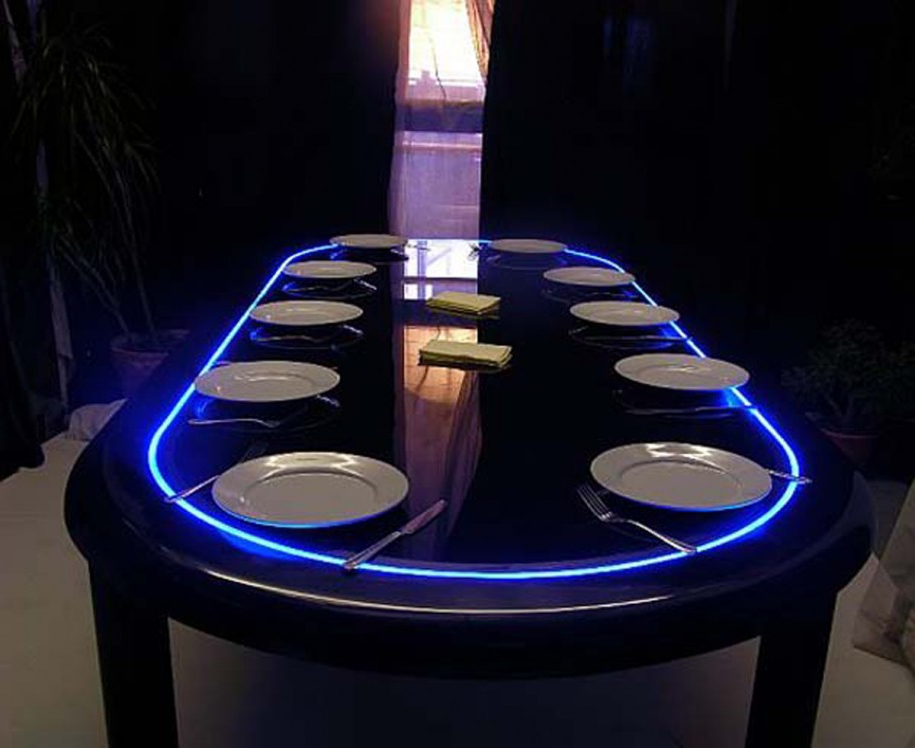 Most Current Blue Led Dining Table Lights — Room Decors And Design : Best Led For Led Dining Tables Lights (View 14 of 20)