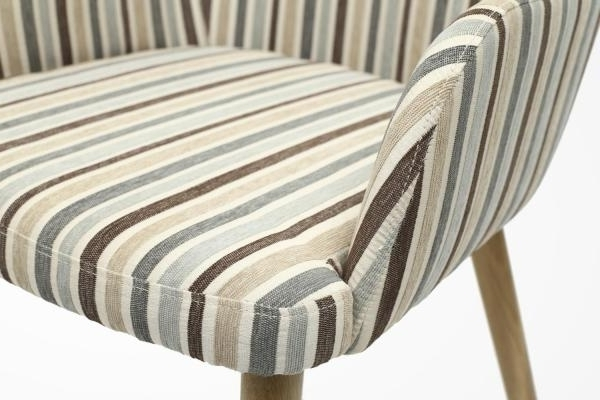 Most Current Blue Stripe Dining Chairs In Buy Shankar Duck Egg Blue Sidcup Stripe Dining Chair (pair) Online (View 7 of 20)