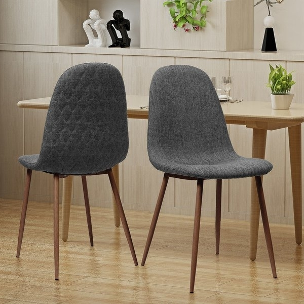 Most Current Caden Round Dining Tables Pertaining To Shop Caden Mid Century Fabric Dining Chair (Set Of 2)Christopher (View 11 of 20)