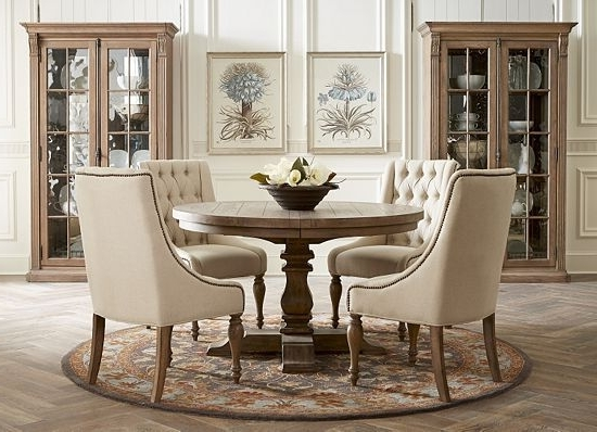 Most Current Caira Black 5 Piece Round Dining Sets With Diamond Back Side Chairs Pertaining To Rustic Yet Elegant, This Avondale #dining #room Speaks To (View 10 of 20)