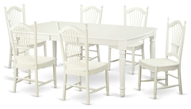 Most Current Carly Rectangle Dining Tables Inside Carly Rectangular Dining Table Set, White – Traditional – Dining (View 16 of 20)