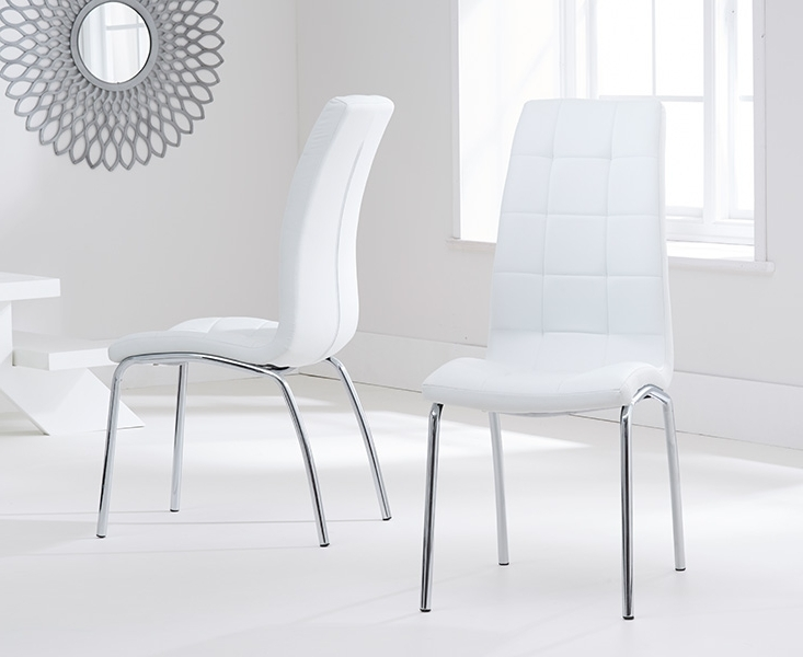 Most Current Casalivin Cremyll Pu Upholstered Dining Chair With Chrome Legs In Chrome Leather Dining Chairs (View 8 of 20)