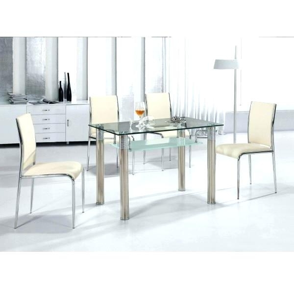 Most Current Cheap Glass Dining Table Set – Bcrr Pertaining To Cheap Glass Dining Tables And 4 Chairs (View 14 of 20)