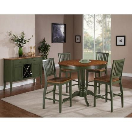 Most Current Cheap Two Tone Dining Room, Find Two Tone Dining Room Deals On Line Throughout Candice Ii 5 Piece Round Dining Sets With Slat Back Side Chairs (View 8 of 16)