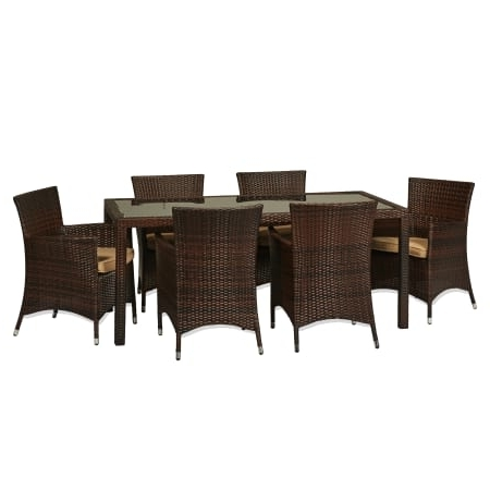Most Current Cora 7 Piece Dining Sets Intended For Delacora Sets Outdoor Furniture – Bs Bad (View 11 of 20)
