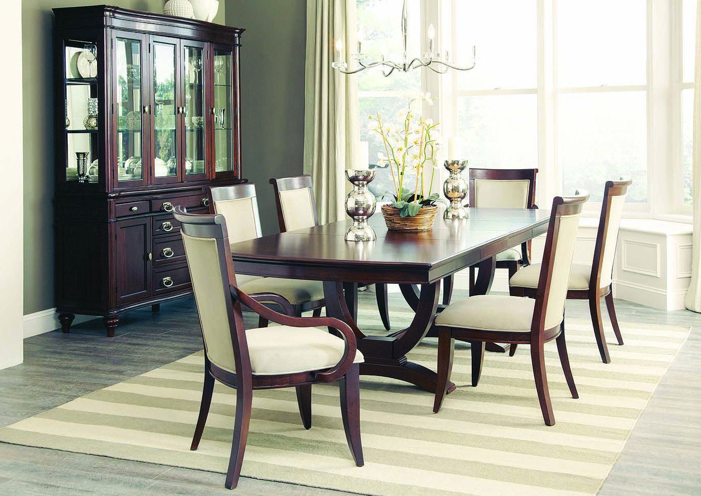 Most Current Craftsman 7 Piece Rectangle Extension Dining Sets With Side Chairs Inside Furniture Expo – Baton Rouge, La Walnut Rectangular Extension Dining (View 14 of 20)