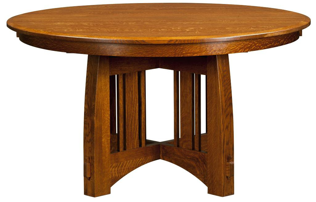 Most Current Craftsman Round Dining Tables Within Craftsman Dining Table Optional Chairs Sears Round Glass – Chann (View 13 of 20)