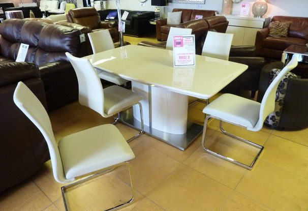 Most Current Cream Gloss Dining Tables And Chairs Regarding Leather Sofa Company – Dining Furniture Details (View 12 of 20)