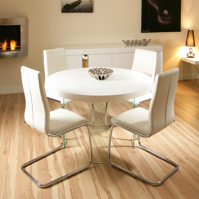Most Current Cream Gloss Dining Tables And Chairs Throughout Cream Gloss Dining Table And Chairs Luxury Interior Small Round (View 6 of 20)