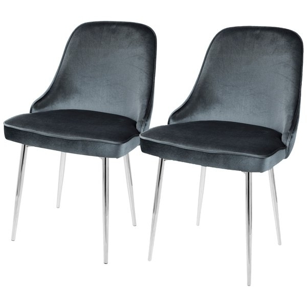 Most Current Dark Olive Velvet Iron Dining Chairs Regarding Shop Lumisource Marcel Contemporary Dining Chair (Set Of 2) – Free (View 15 of 20)